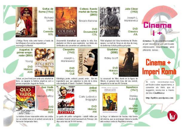 pantalla cinema i + imperi roma