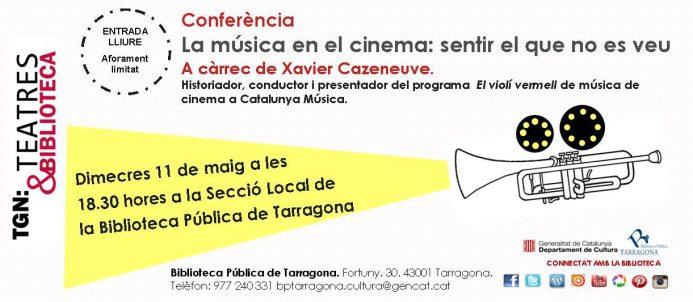 Conferència Música en el cinema XAVIER CAZENEUVE